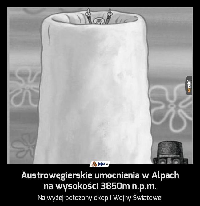 Austrowęgierskie umocnienia w Alpach na wysokości 3850m n.p.m.