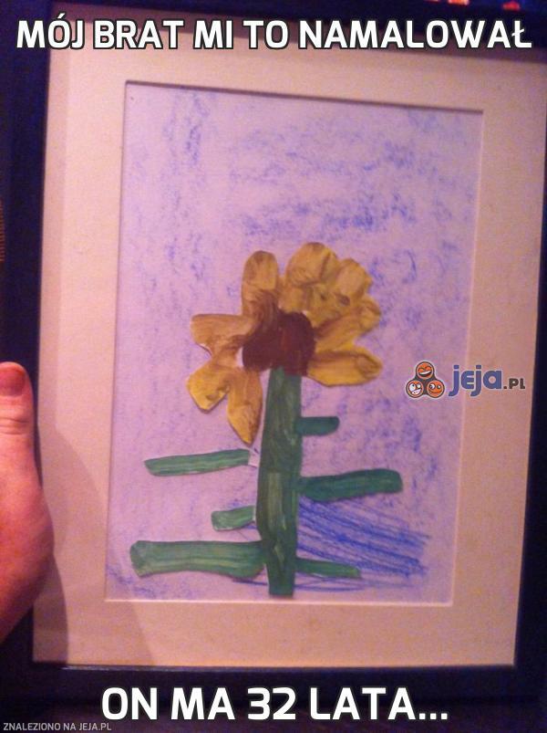 Mój brat mi to namalował
