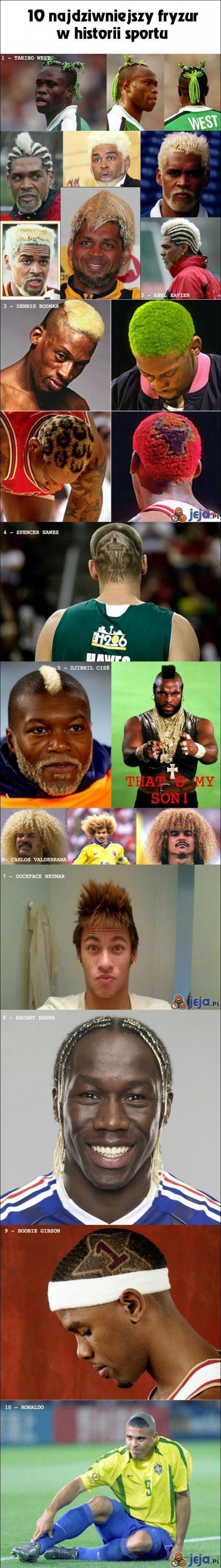 Top 10 najdziwniejszych fryzur sportowców