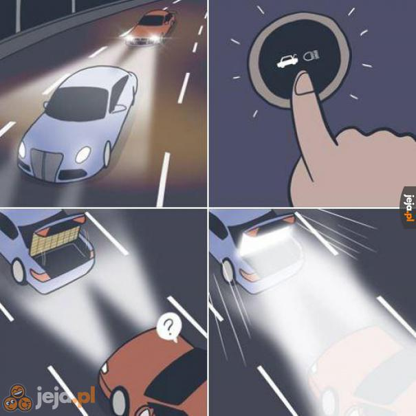 Metoda na kierowców, którzy oślepiają innych długimi światłami