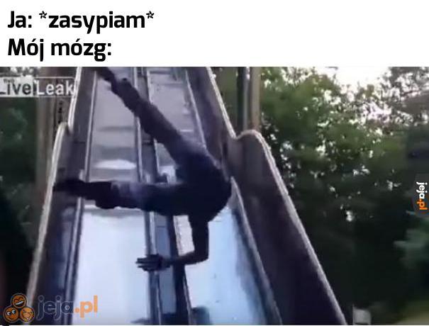 Ten dziwny trik ze spadaniem