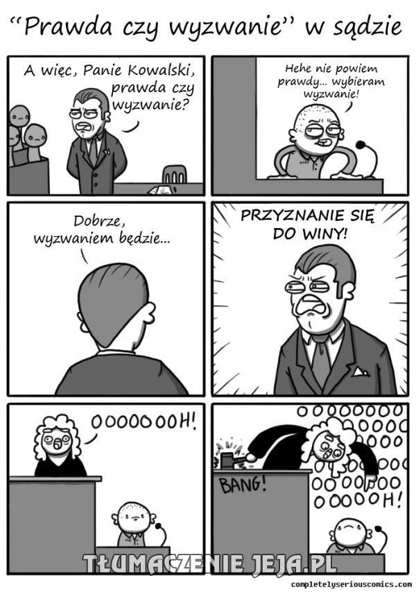 Sprawa sądowa w stylu znanej zabawy
