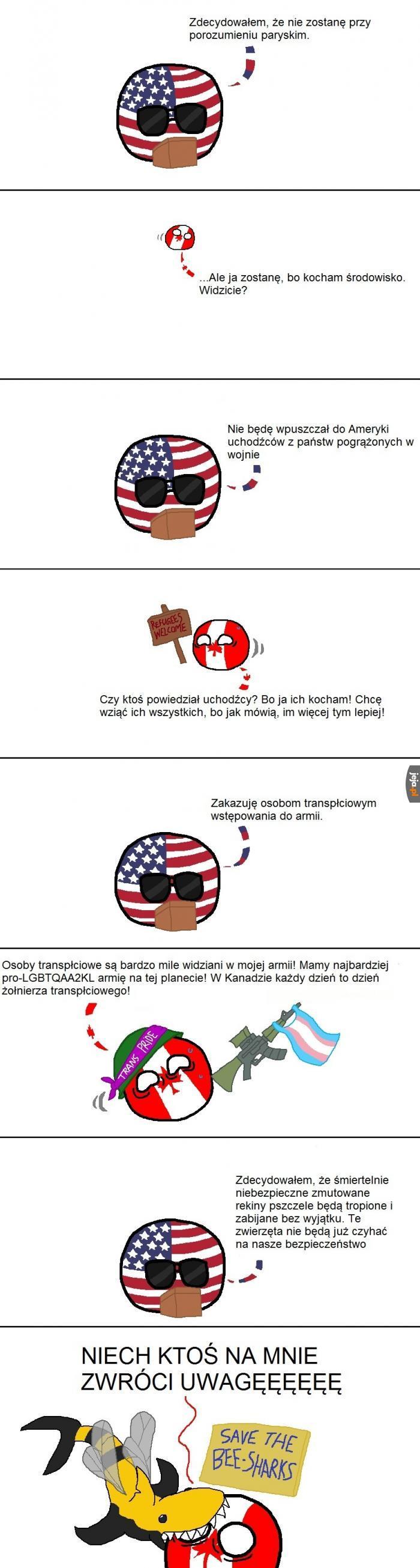 Kanada - Zachodnia Europa Ameryki
