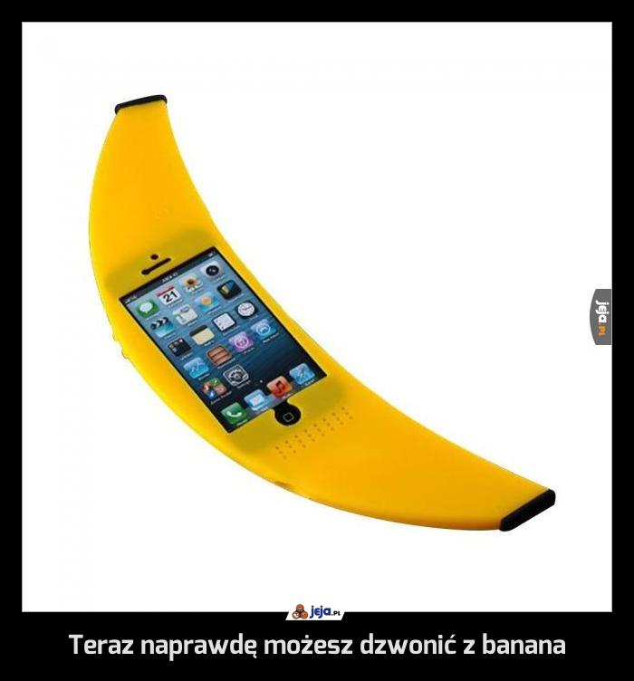 Teraz naprawdę możesz dzwonić z banana