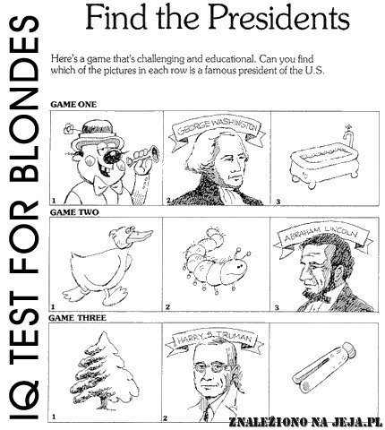 Test IQ - Prezydenci