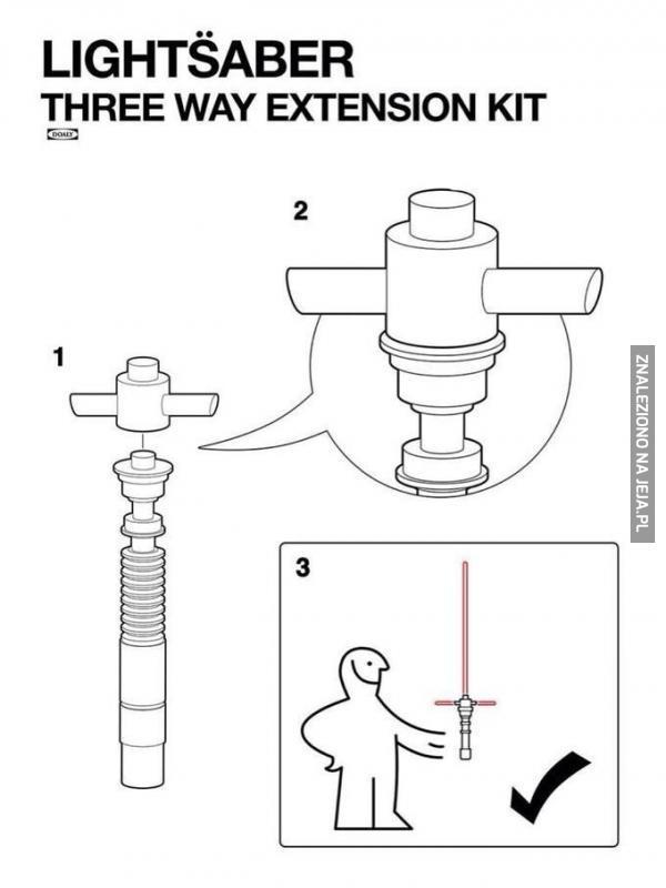 Jak zrobić potrójny miecz świetlny