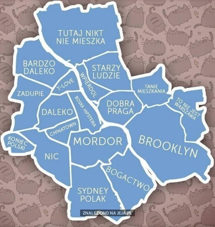 mapa warszawy dzielnice Mapa Warszawy   Jeja.pl