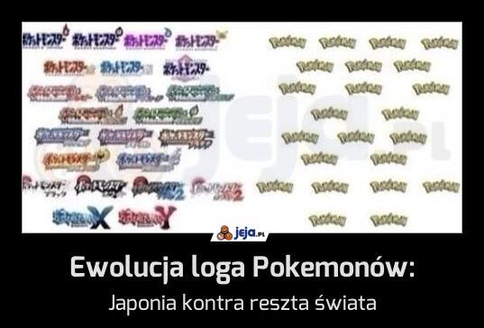 Ewolucja loga Pokemonów: