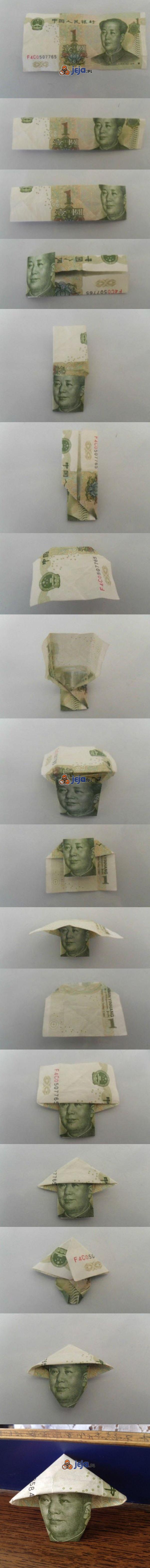 Origami z banknotu