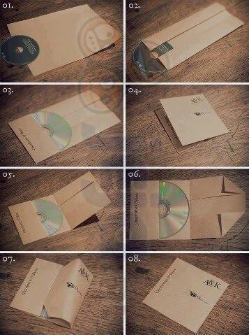 Jak zrobić opakowanie na płytę z papieru