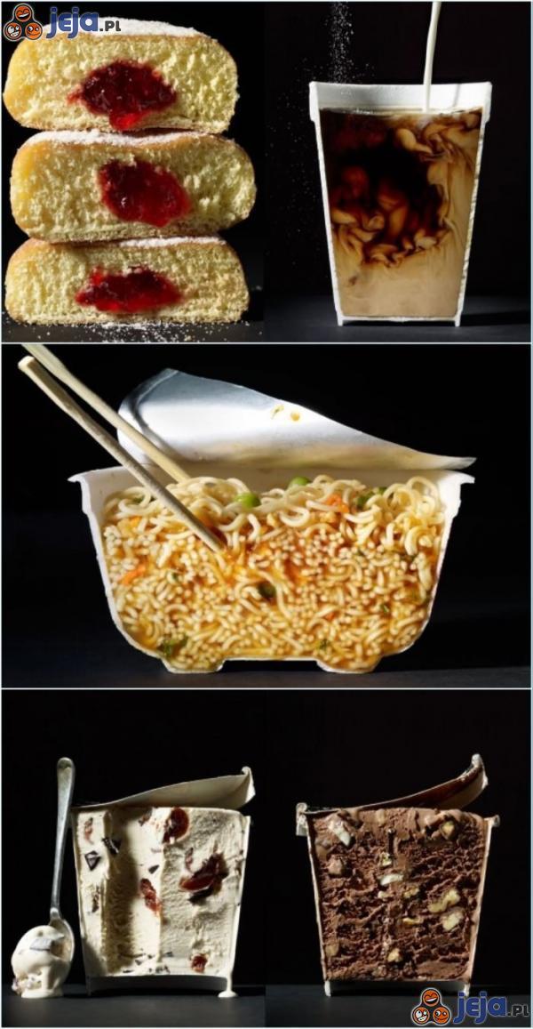 Apetyczne jedzenie z innej perspektywy