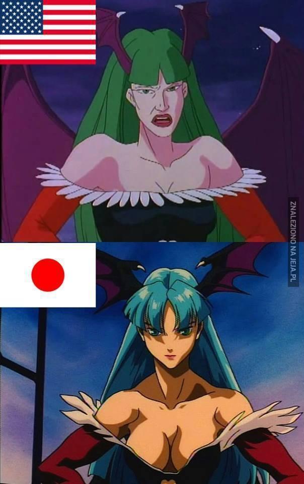 Kreskówka kontra anime