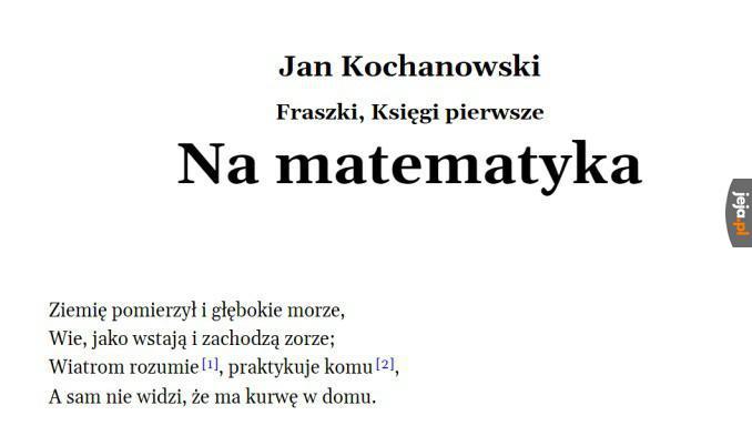 Jan Kochanowski przedstawia