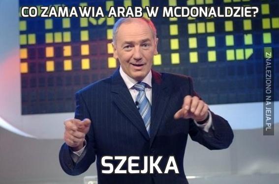 Co zamawia Arab w McDonaldzie?