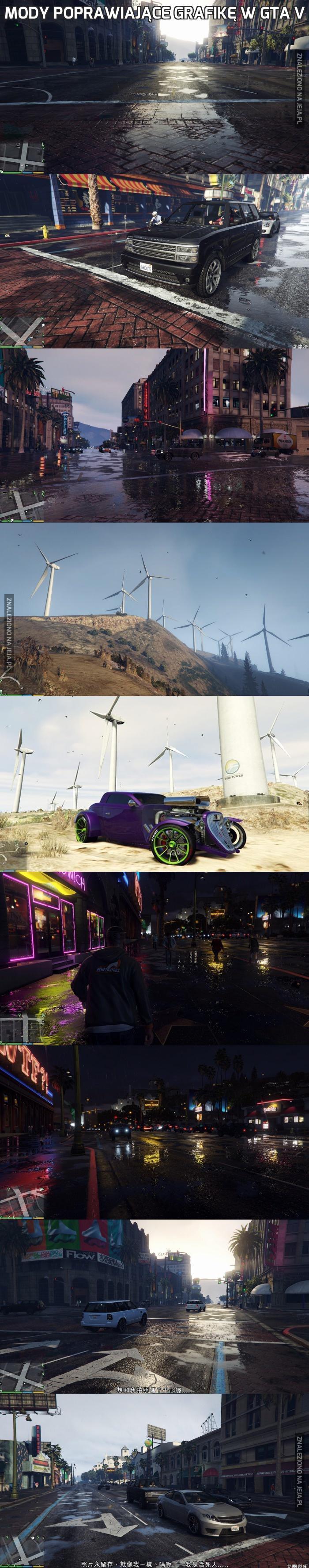 Mody poprawiające grafikę w GTA V