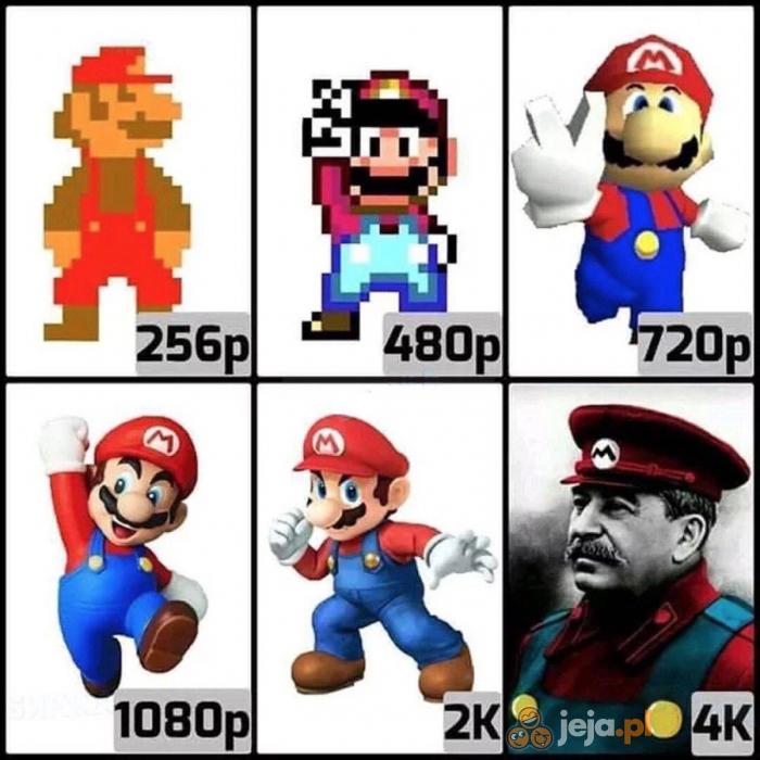 Mario w wysokiej rozdzielczości
