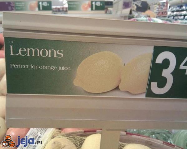 Cytryny idealnie się nadają na sok pomarańczowy