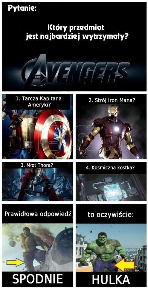 Najbardziej wytrzymały przedmiot z Avengersów