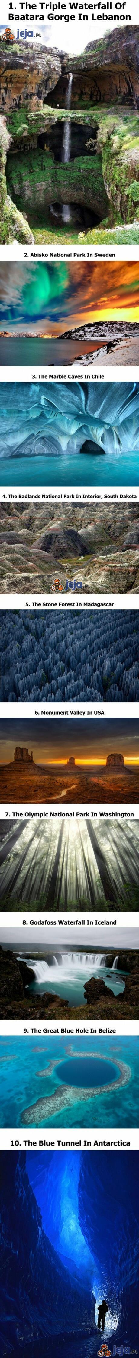10 najpiękniejszych zakątków świata