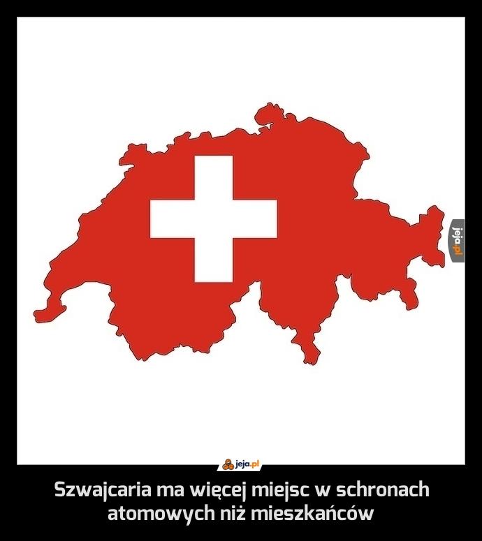 Szwajcaria ma więcej miejsc w schronach atomowych niż mieszkańców