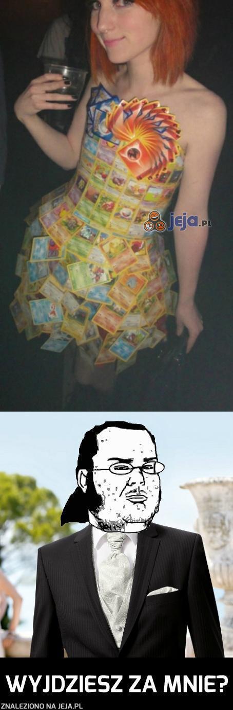 Sukienka z kart Pokemon