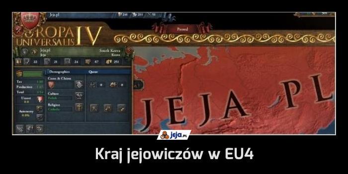 Kraj jejowiczów w EU4
