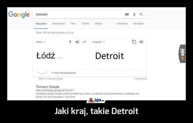Jaki kraj, takie Detroit