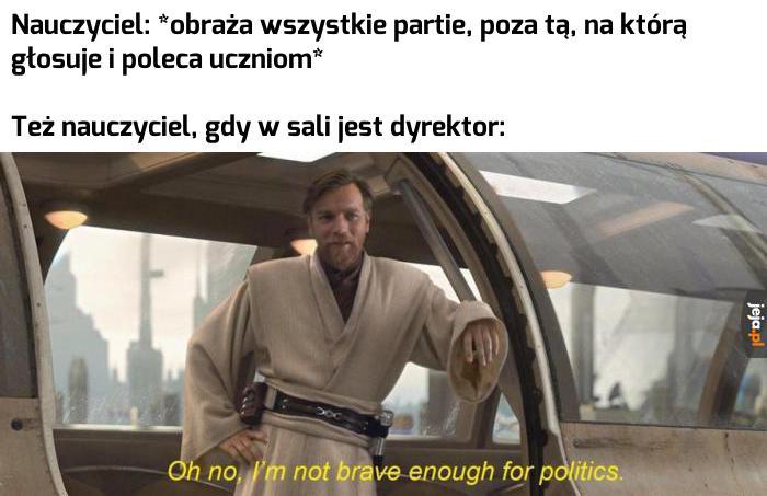 Partie polityczne nie interesują mnie