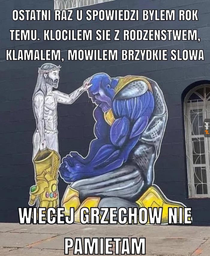 Thanos u spowiedzi