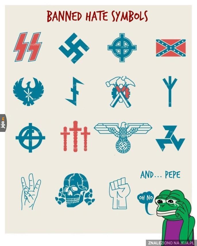 Zbanowane symbole nienawiści
