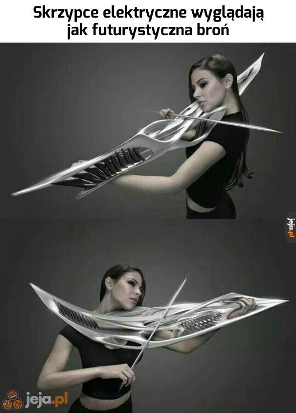 Broń czy skrzypce?