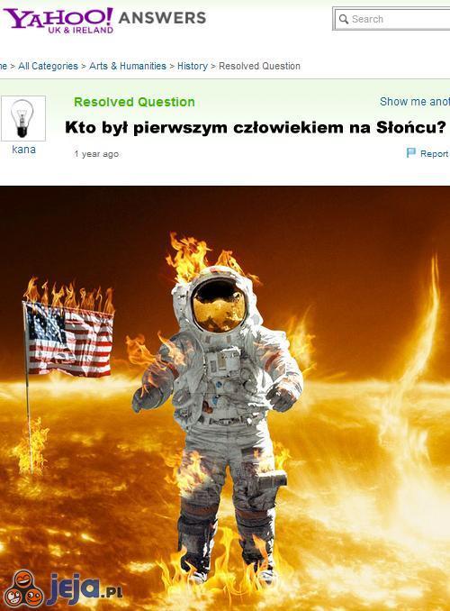 Pierwszy człowiek na Słońcu