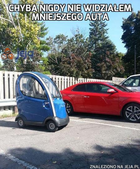 Chyba nigdy nie widziałem mniejszego auta