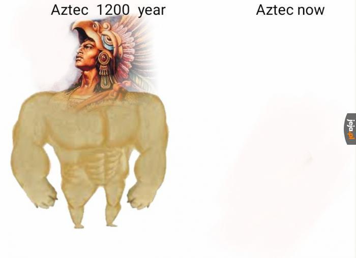 Pozmieniało się w Imperium Azteków