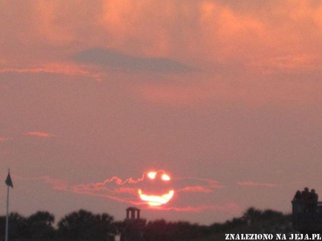 Uśmiechnięte słońce