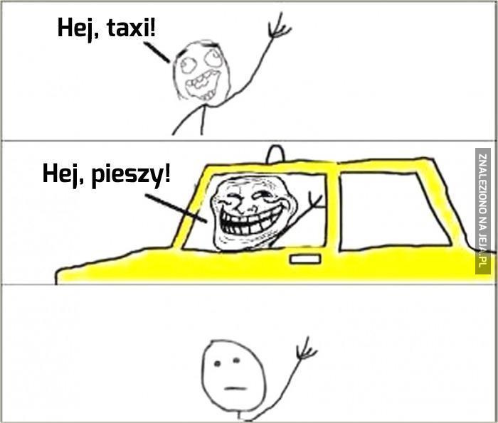 Taksówkarz z poczuciem humoru
