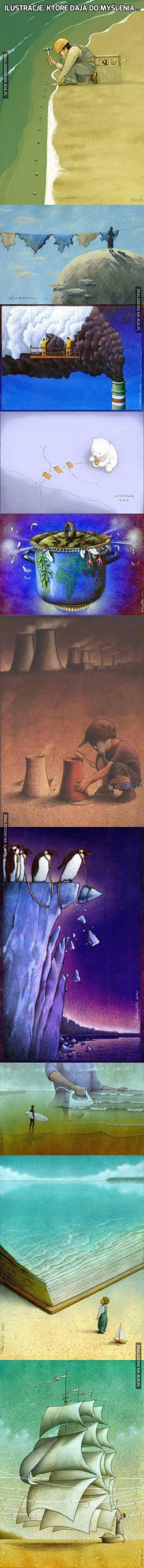 Ilustracje, które dają do myślenia...