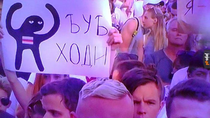 To tylko protesty na Białorusi