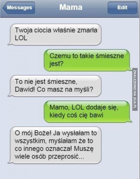 SMS-owa wpadka matki