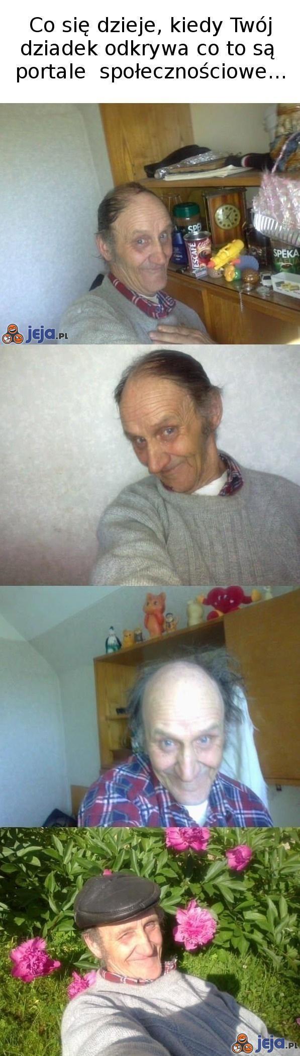 Dziadek na portalu społecznościowym