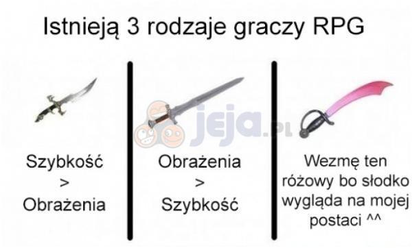 Gracze RPG i ich broń