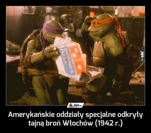 Amerykańskie oddziały specjalne odkryły tajną broń Włochów (1942 r.)
