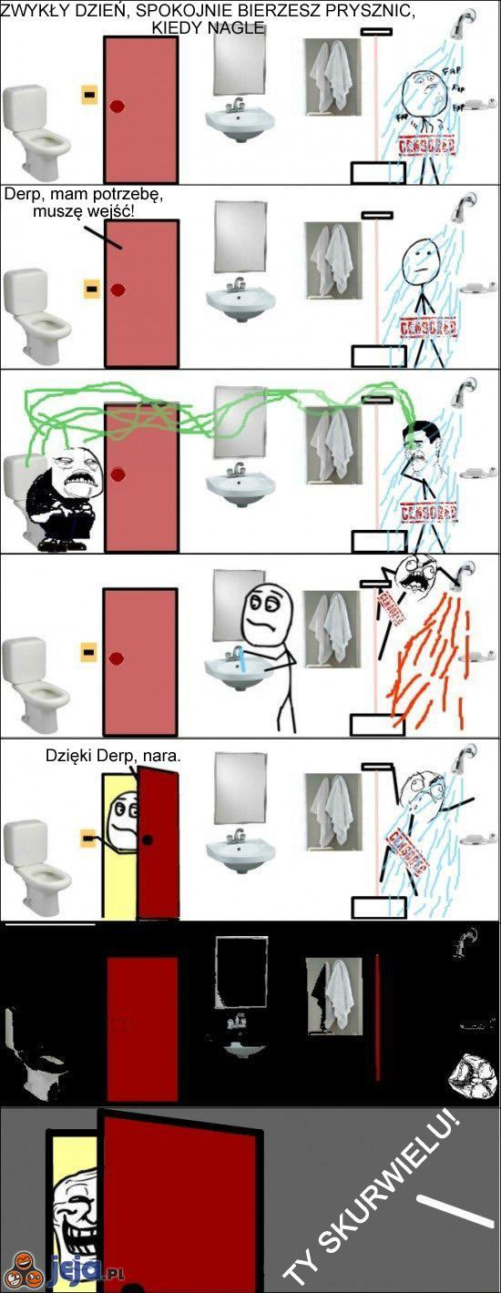 Bierzesz prysznic