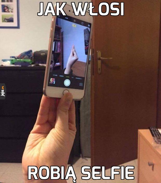Selfie po włosku