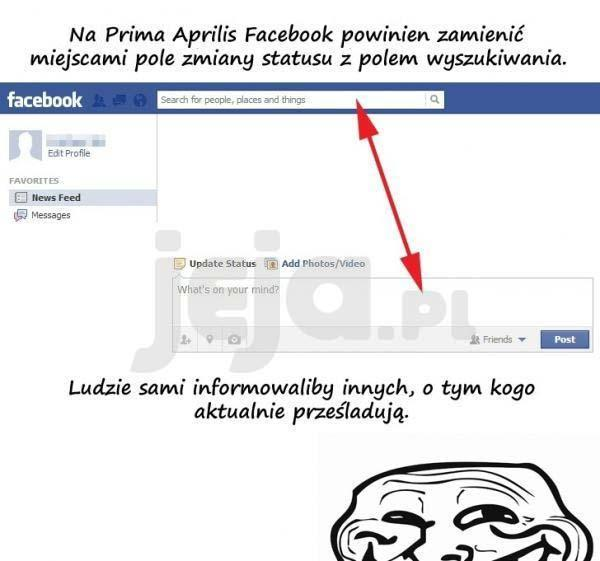 Prima Aprilis na Facebooku