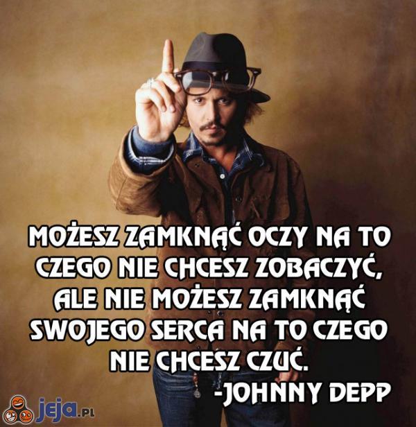 Johnny Depp o uczuciach