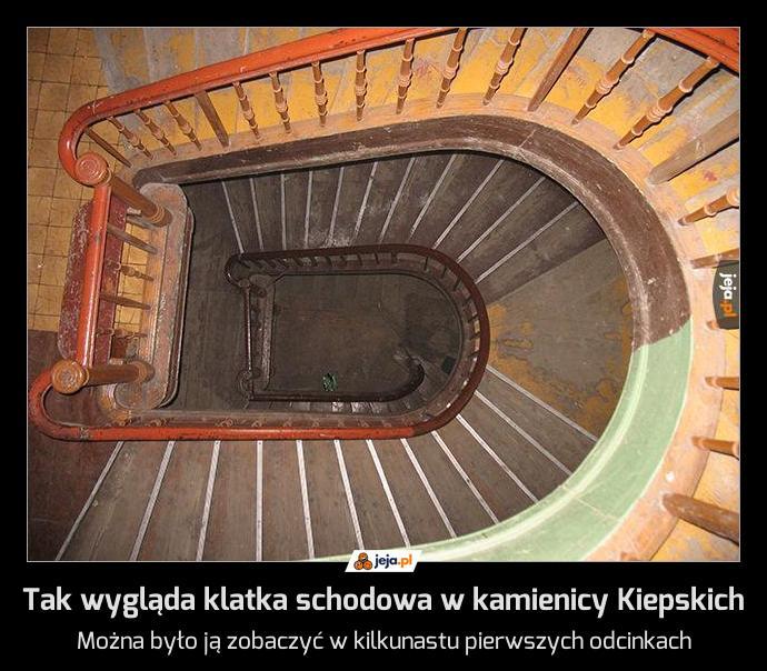 Tak wygląda klatka schodowa w kamienicy Kiepskich