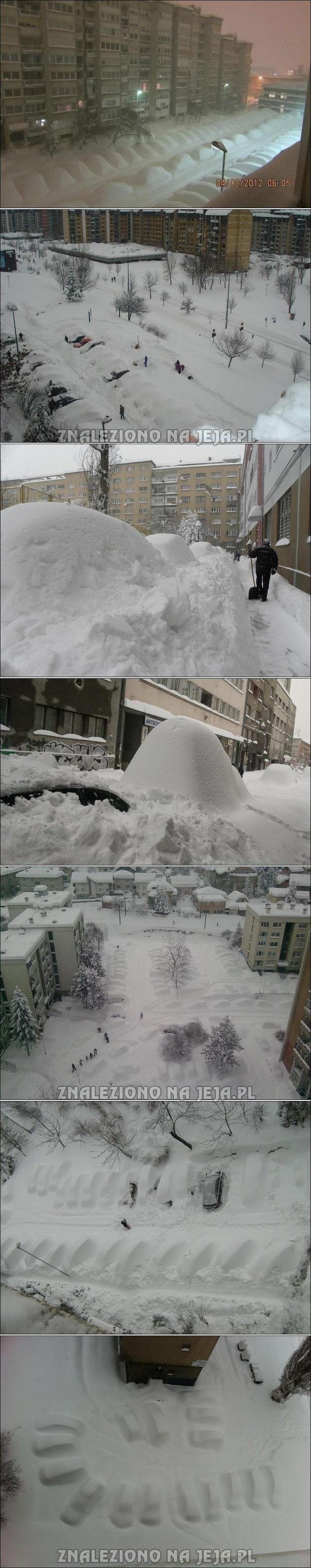 Śniegowe zaspy?