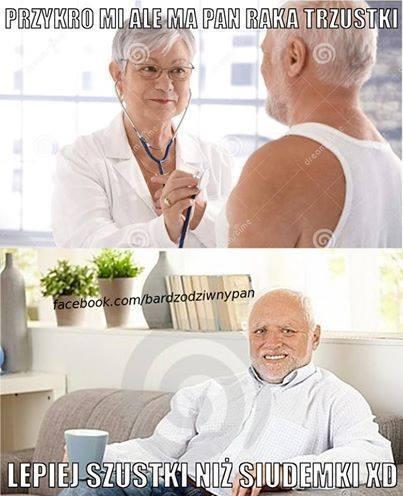 Przykro mi, ale ma pan raka trzustki