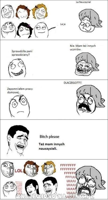 Nauczyciel vs Uczeń